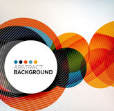 Colorful circles modern abstract composition Stock Photography