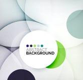 Colorful circles modern abstract composition Stock Photos
