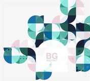 Colorful circles modern abstract composition with text. Geometric background Stock Photos