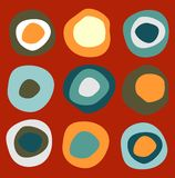 Colorful circles pattern Stock Photography