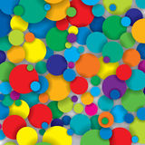 Vector colorful circles Royalty Free Stock Images