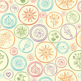 Colorful circles seamless pattern background Royalty Free Stock Photography
