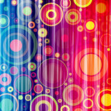 Colorful circles two. Colorful grunge circles on a white background Stock Photos