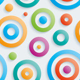 Colorful circles walpaper. Royalty Free Stock Photography