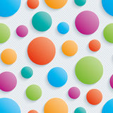 Colorful circles walpaper. 3d seamless background. Vector EPS10 vector illustration