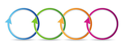 Colorful circular arrows Stock Images