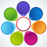 Colorful circular banners Royalty Free Stock Images