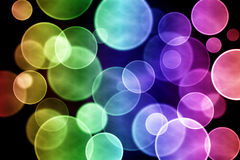 Colorful circular bokeh Stock Photography