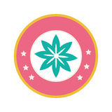Colorful circular border with figure flower. Vector illustration Royalty Free Stock Photography