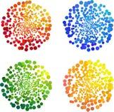 Colorful circular bubble Stock Photography
