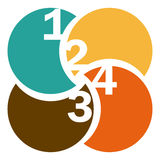Colorful circular figures with numeration. Illustration Stock Photos
