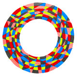 Colorful circular frame Royalty Free Stock Image