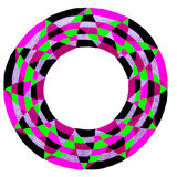Colorful circular frame Stock Images