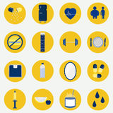 Colorful circular icons of health Stock Images