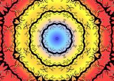 Colorful circular illustration royalty free stock photography