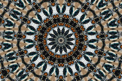 Colorful circular kaleidoscope Royalty Free Stock Images