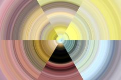 Colorful circular shapes, playful background and contrasts Royalty Free Stock Photos