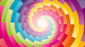 Colorful circular spiral rotating background stock video footage