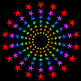 Colorful circular stars. Royalty Free Stock Photo