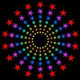 Colorful circular stars. Colorful circular stars burst background Royalty Free Stock Photo
