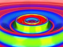 Colorful Circular Waves Royalty Free Stock Photos