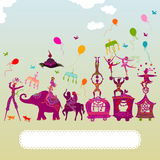 Colorful circus carnival traveling Royalty Free Stock Image