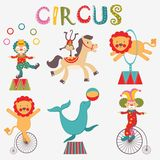 Colorful circus collection Stock Photos