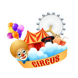 Colorful circus concept Stock Images