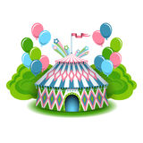 Colorful circus illustration Stock Photography