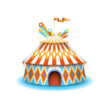 Colorful circus illustration Stock Images