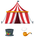 Colorful circus set vector Stock Photography