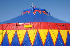 A colorful circus tent Stock Images