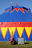 A colorful circus tent Stock Photography