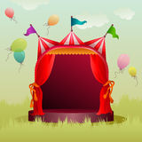 Colorful circus tent with balloons Royalty Free Stock Photo