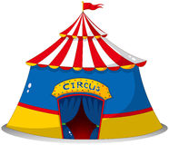 A colorful circus tent Royalty Free Stock Photos