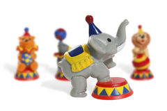 Colorful Circus Toys. Of a  lion, bear, elephant and seal Royalty Free Stock Photo