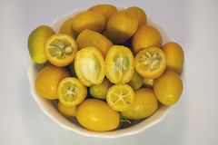 Colorful Citrus fruits close up in my room Royalty Free Stock Photography