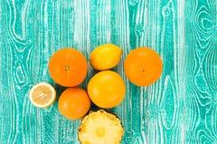 Colorful citrus fruits Stock Image