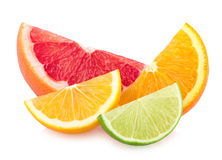 Colorful citrus slices Royalty Free Stock Images