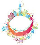Colorful city Royalty Free Stock Images
