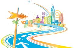 Colorful city Stock Image