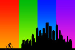 Colorful city Royalty Free Stock Photos