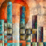 Colorful city abstract Stock Photos