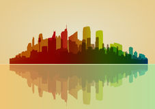 Colorful city background Royalty Free Stock Images