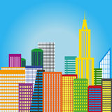 Colorful City Background Royalty Free Stock Photography