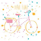 Colorful city bicycle Royalty Free Stock Image