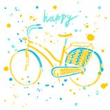 Colorful city bicycle Stock Photography