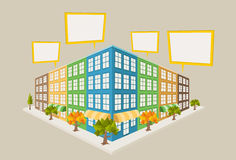 Colorful city block Royalty Free Stock Images