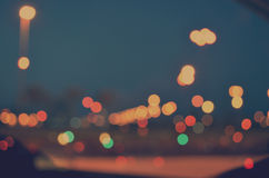 Colorful City Bokeh On A Dark Background Royalty Free Stock Image