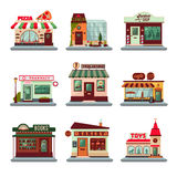 Colorful City Buildings Set Royalty Free Stock Images